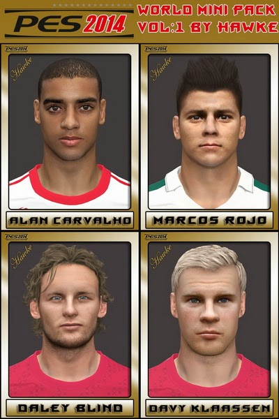 PES 2014 World Mini FacePack by Hawke