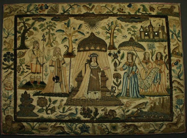 17th century English needlework conservation, professional textile preservation, restoration, Upstate Albany New York, Spicer Art Conservation, collection of Newport Restoration Foundation