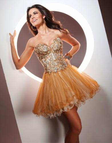 vestido de festa curto dourado com bordados - dicas e modelos