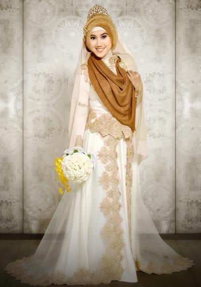kebaya muslimah pengantin