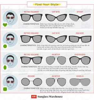 Chọn kính mát thời trang phù hợp nhất với gương mặt bạn
