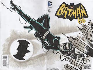 Batman, Batman66, blank cover, catwoman, pinup, gotham