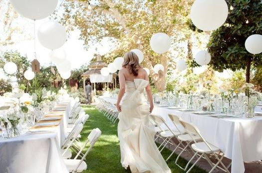 Globos para decorar una boda