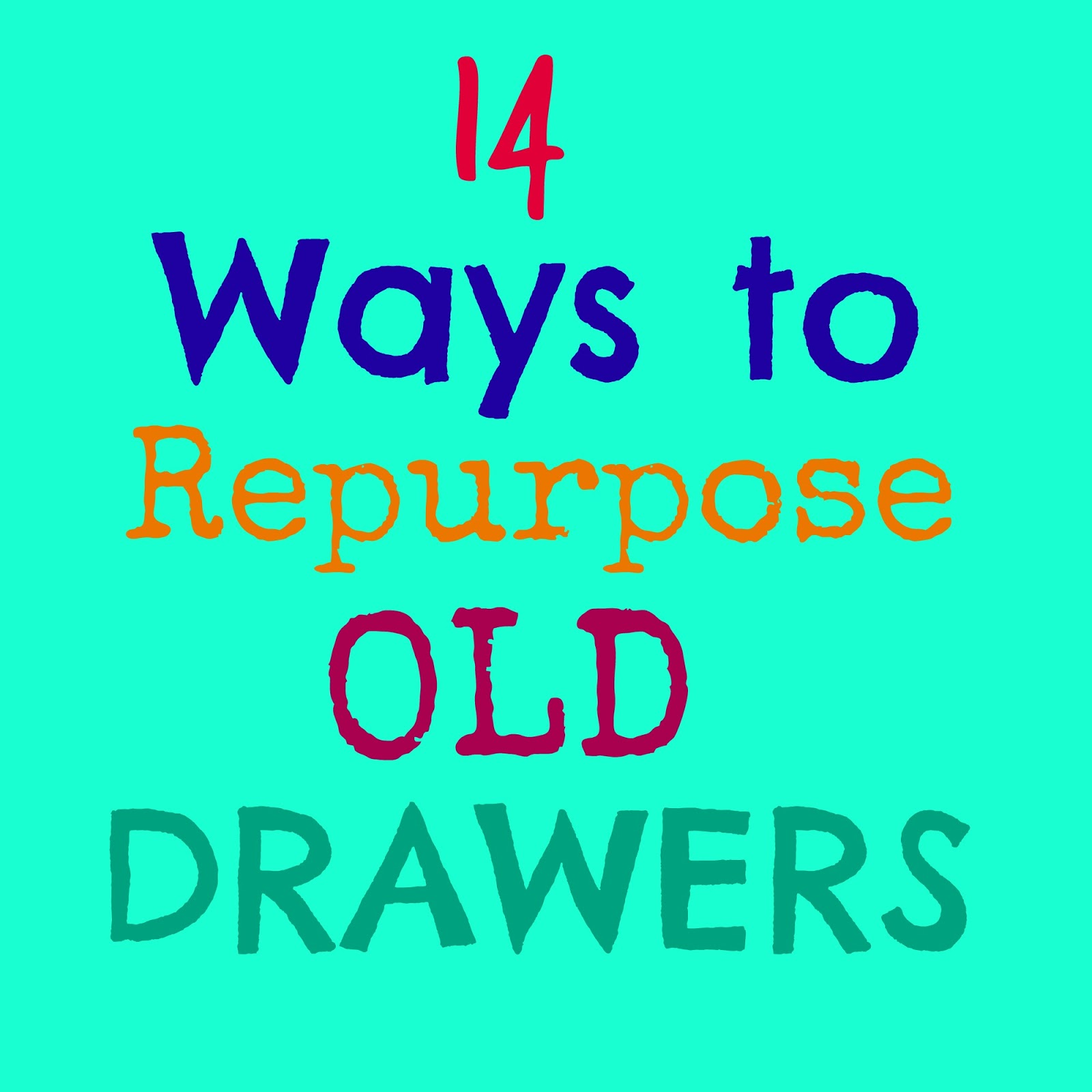 14 Fabulous Ways to Repurpose Old Drawers - Crafts a la mode