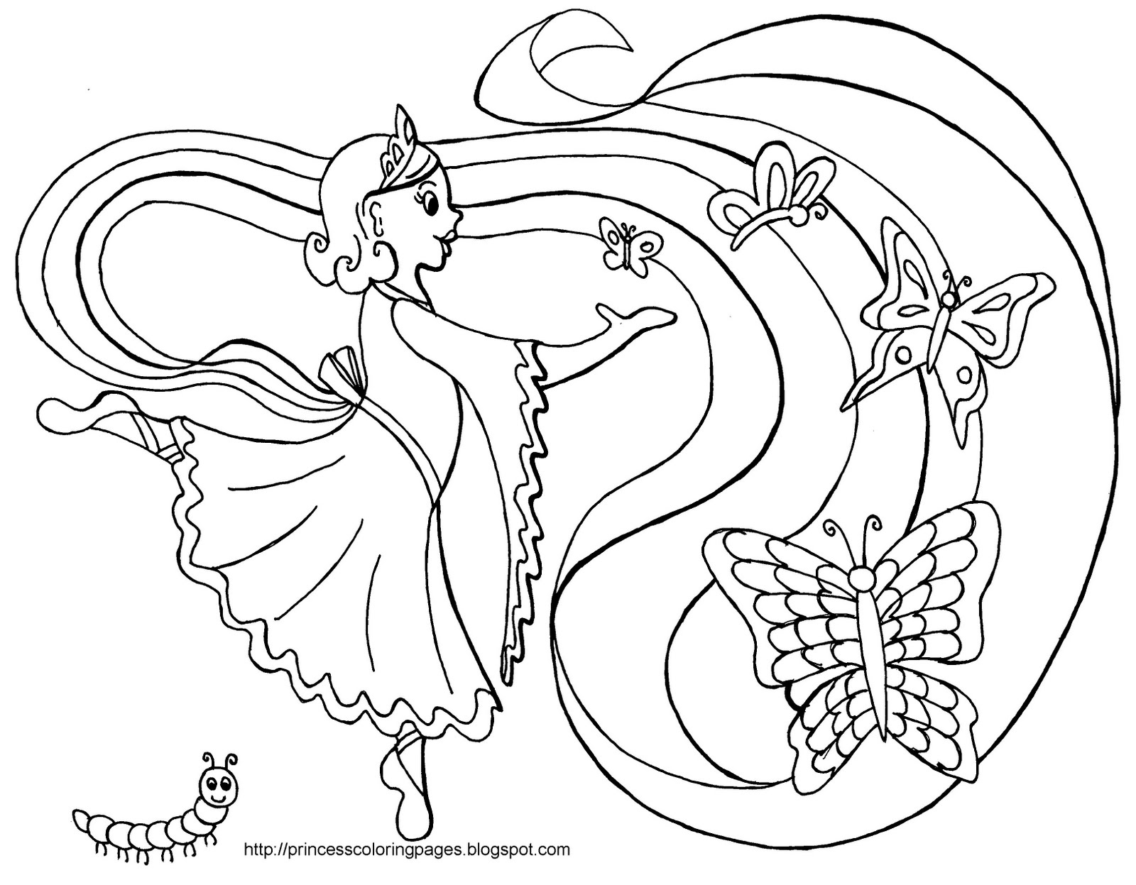 Princess Coloring Pages To Print
