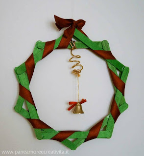Enfeites de Natal Para fazer na escola |Guirlanda de palito de picolé