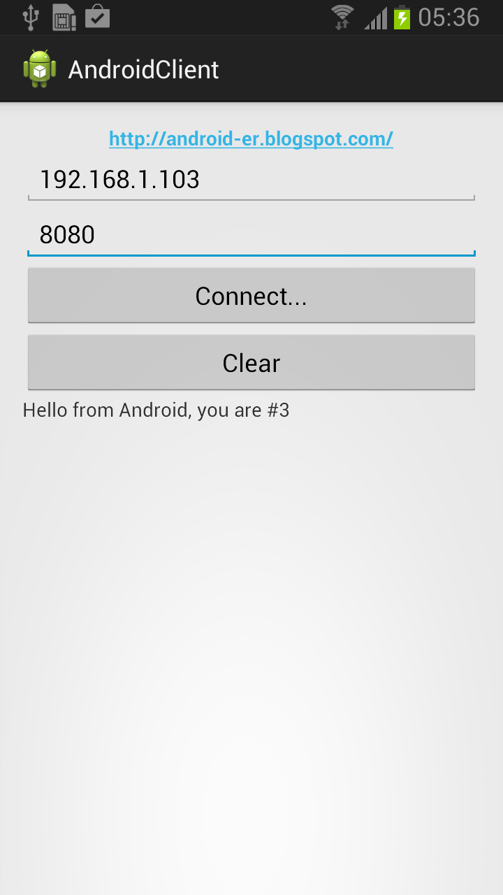 Android client side using Socket