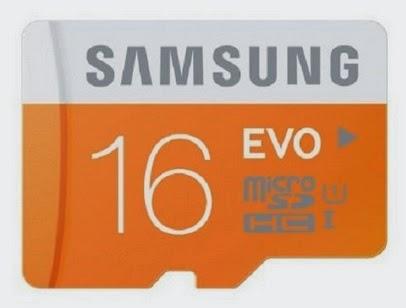 Samsung EVO 16 GB class 10 memory card