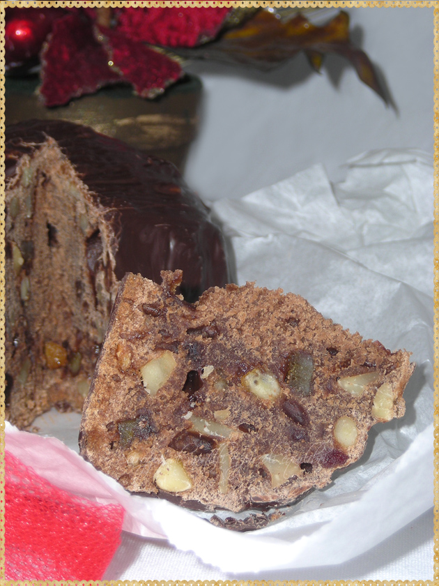 Fetta dolce di Natale Ferrara con frutta secca canditi spezie
