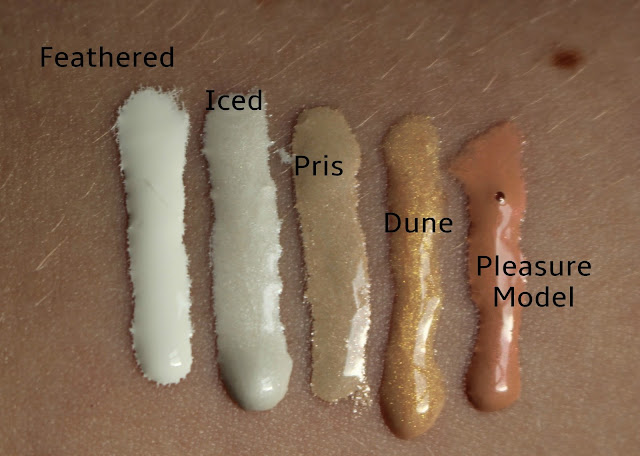Lip Tars L-R Feathered, Iced, Pris, Dune, Pleasure Model