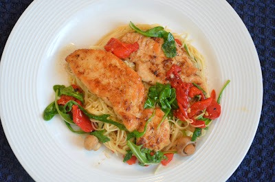 The Savvy Kitchen Sauteed Chicken Breasts With Roasted Peppers