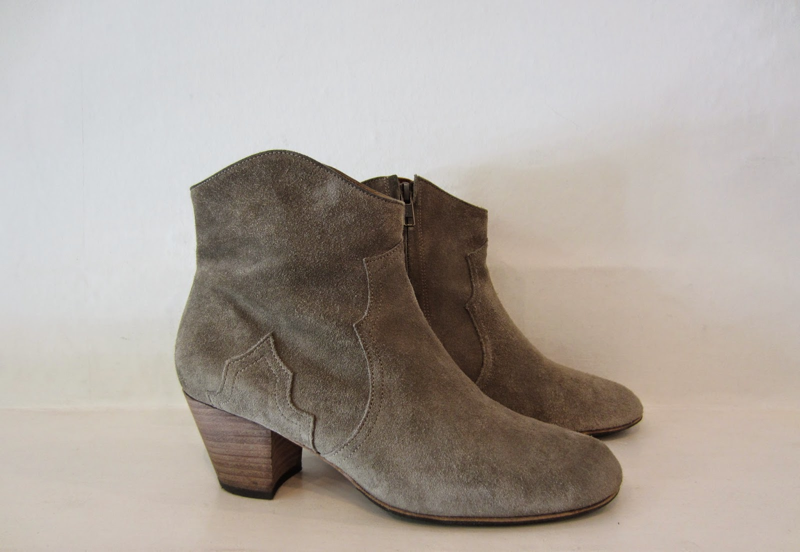 Isabel Marant Taupe Suede Dicker Boots