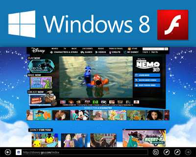 flash on windows 8