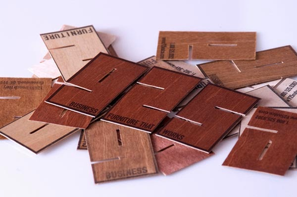 25 astonishing wood business cards from most talented designers wood business card reheart Image collections
