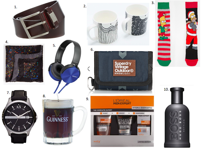 christmas gift ideas for men, asos, house of fraser, superdry, asos, sony, hugo boss, armani, watch