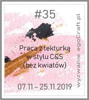 """EgoCraft.pl - """" Praca z tekturką """" bez kwiatów / C&S"""