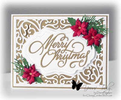 Diana Nguyen, Christmas, word die, Poppystamps, poinsettia, Our Daily Bread Designs