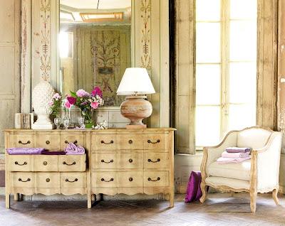 Boiserie c legno stile antica dimora di campagna - Mobili stile maison du monde ...