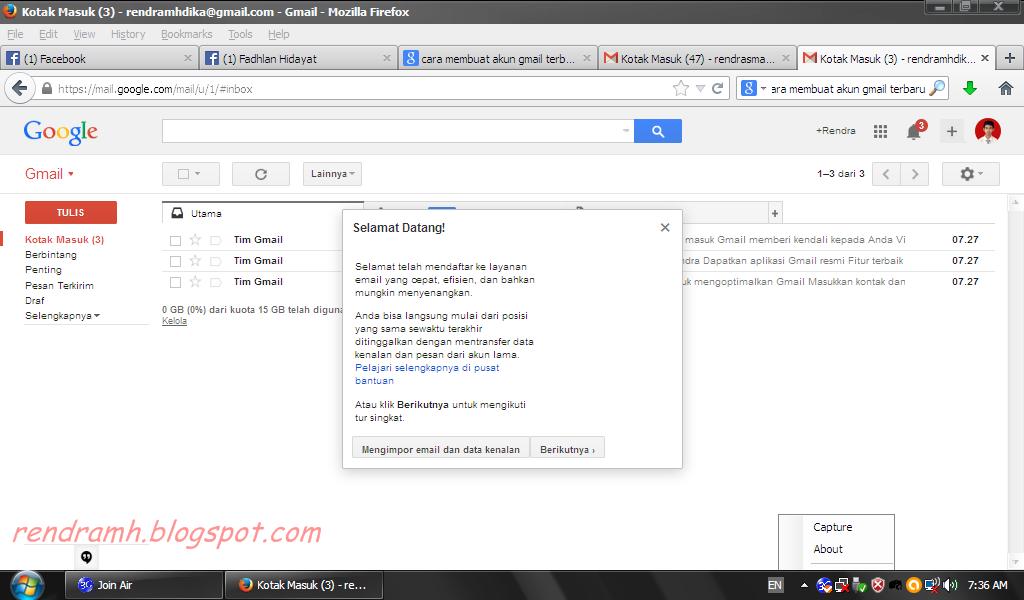 selamat datang di beranda gmail