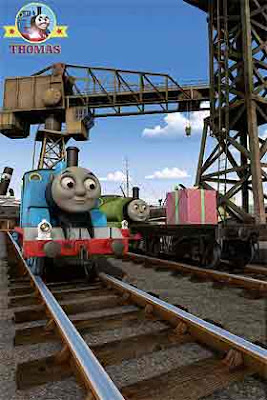Movie picture of Thomas and friends Percy's Parcel Percy the tank engine important birthday present