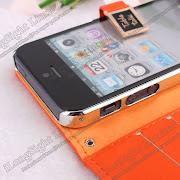 Iphone 5G Korea Table Talk Leather Flip Wallet Case .ILongSight Limited