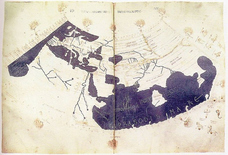 Evolution of the world map stationgossip 2nd century ad sciox Gallery