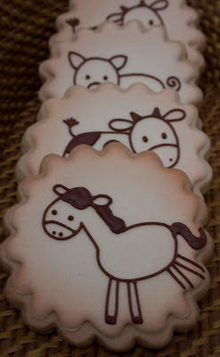 Rustic farm animal cookies