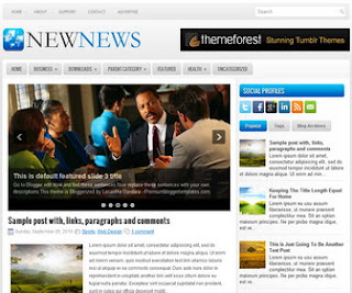 NewNews Free Blogger Template