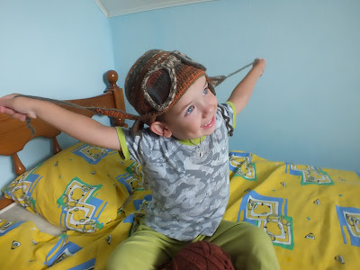 шапка-авиатор крючком