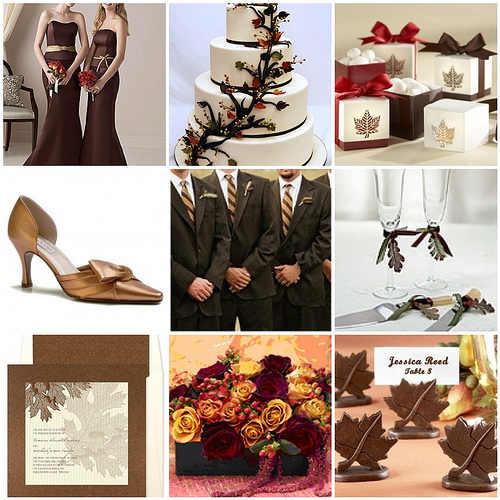 GET THE LOOK Sweet Like Chocolate Browns Wedding Theme