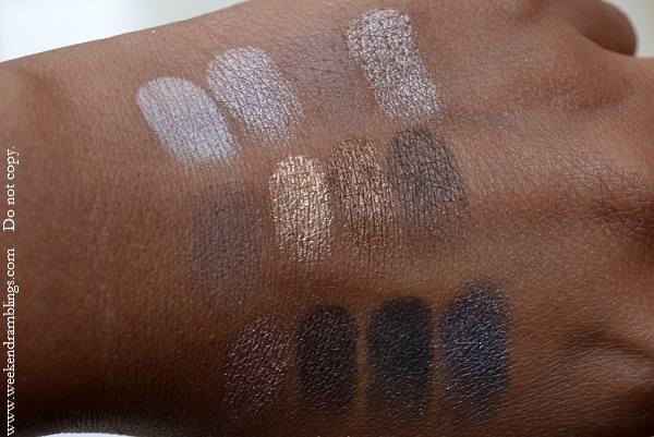 urban decay naked palette swatches Virgin Sin Naked Sidecar Buck Half Baked Smog Darkhorse Toasted Hustle Creep Gunmetal