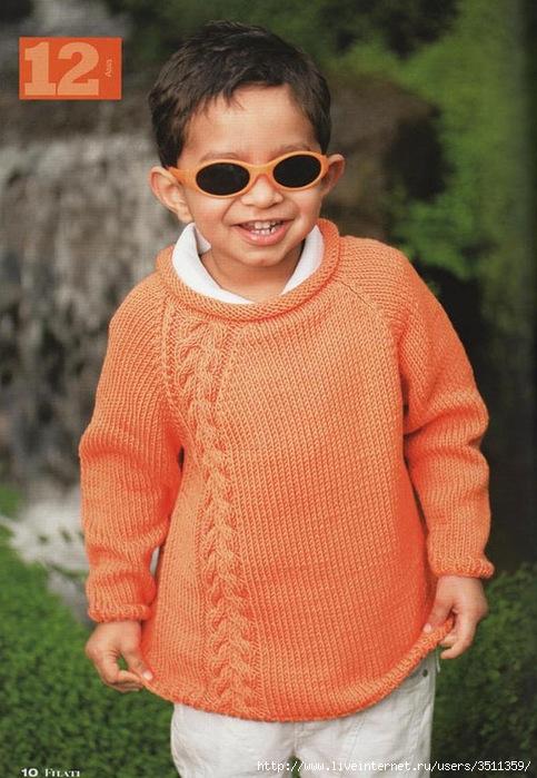 Вязание спицами свитер для мальчика реглан