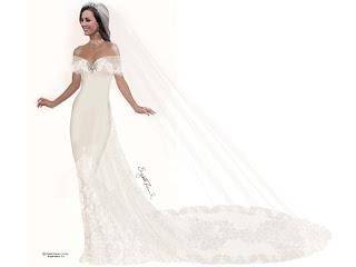 VESTIDO Estilista de Lady Di cria vestido de noiva para Kate!