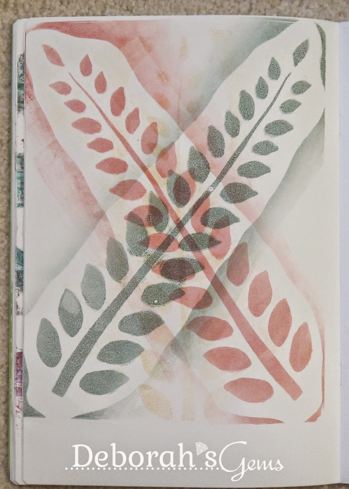 Gelli Journal 5 - photo by Deborah Frings - Deborah's Gems