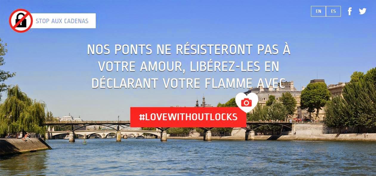 Dites non aux cadenas sur les ponts !
