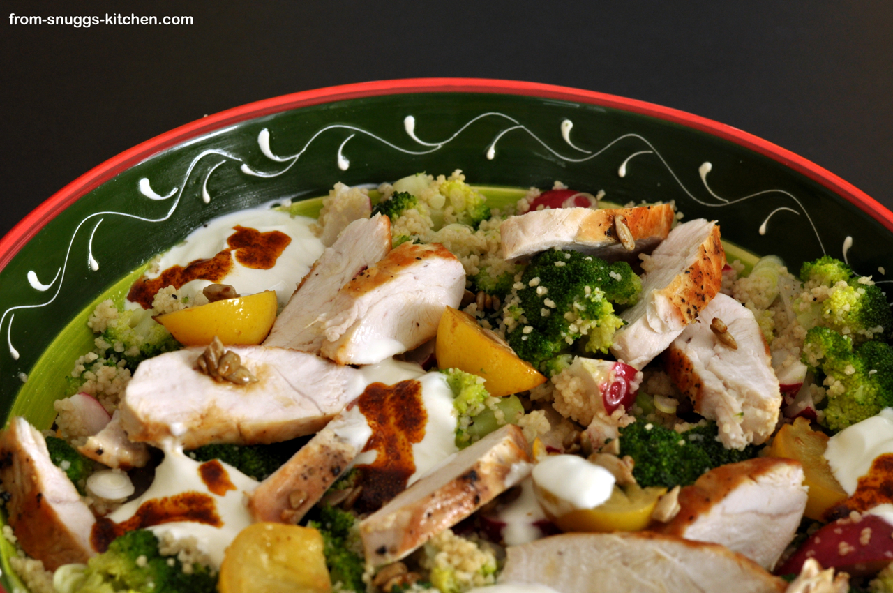 Couscous Salat mit Hähnchen alla Jamie Oliver