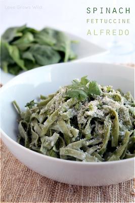 Spinach Fettuccine Alfredo