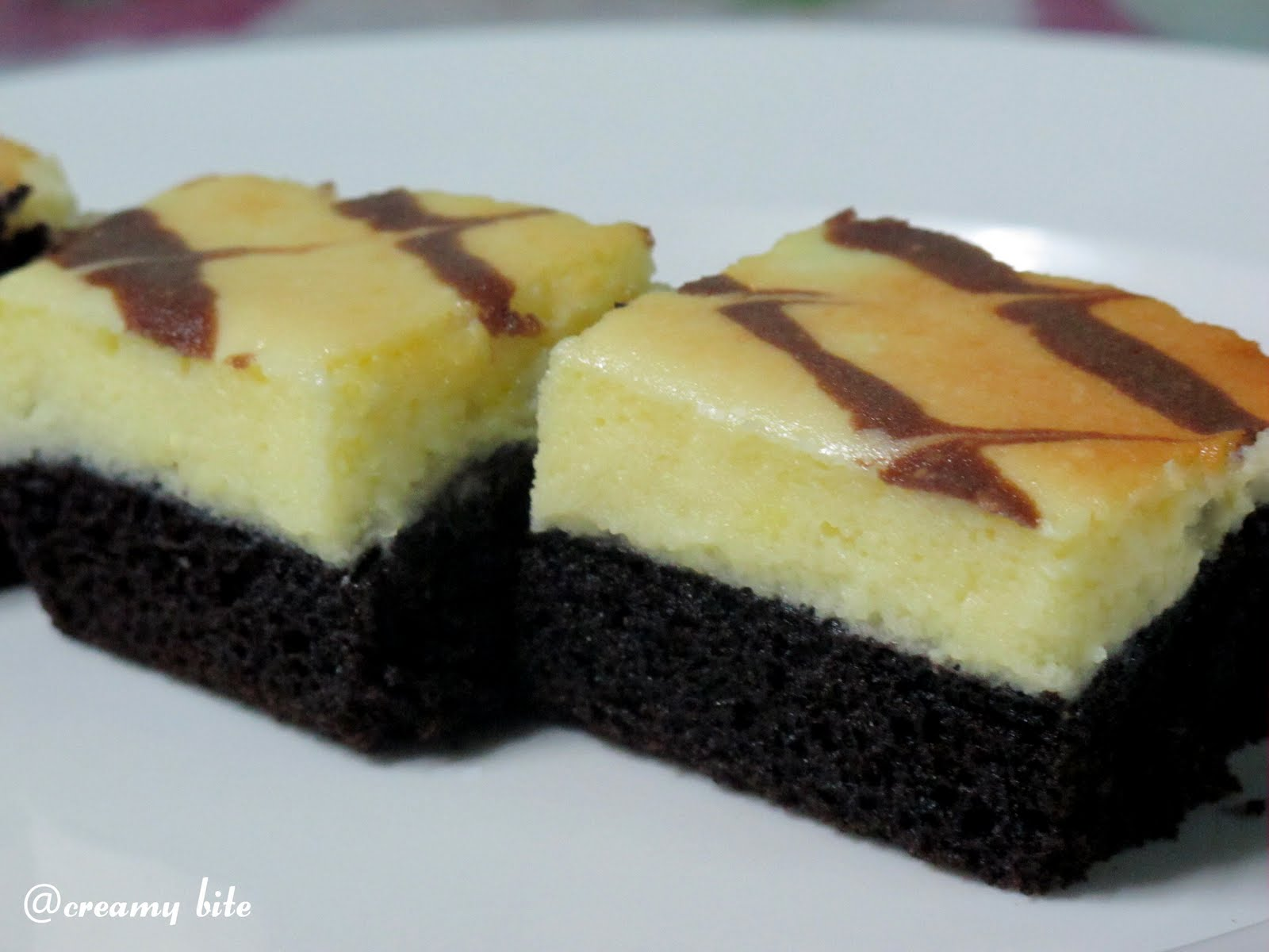 Cream Cheese Marbled Brownies Recipe — Dishmaps