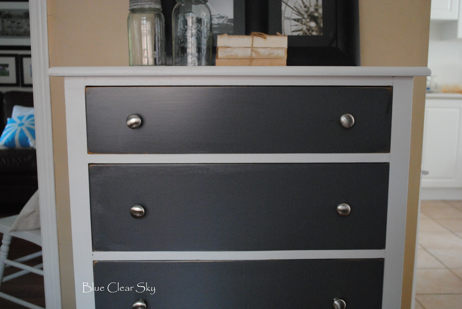drawer gray dp hemnes stained dresser dark amazon grey ikea com