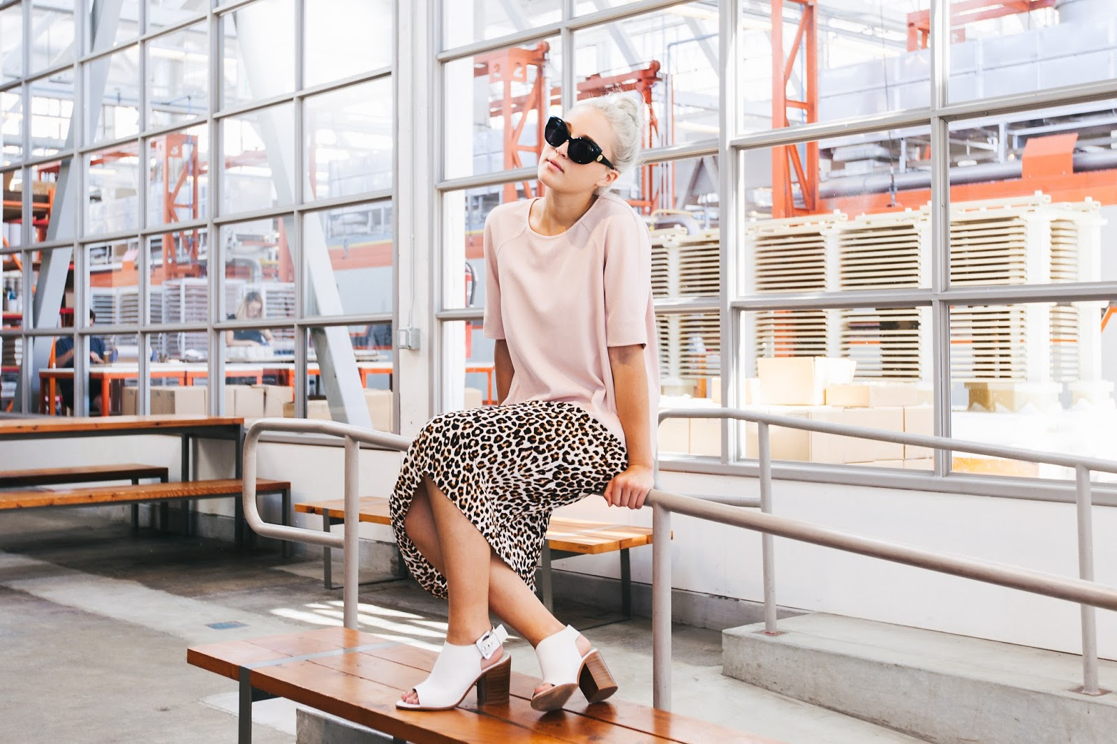 Style Blogger Bryn Newman in Blue Bottle Coffee, San Francisco