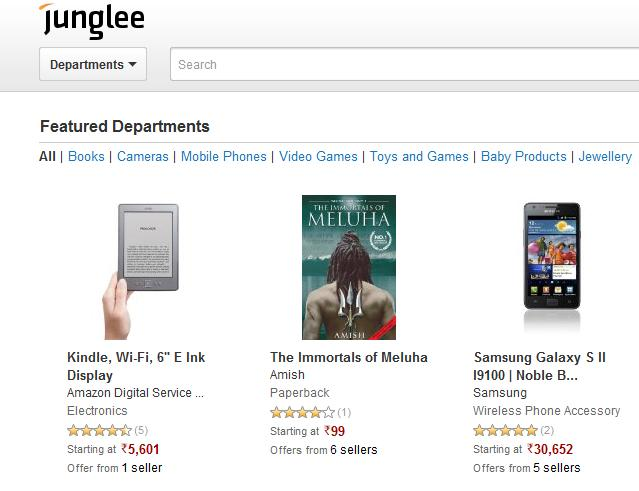 Junglee Amazon Indian Shopping