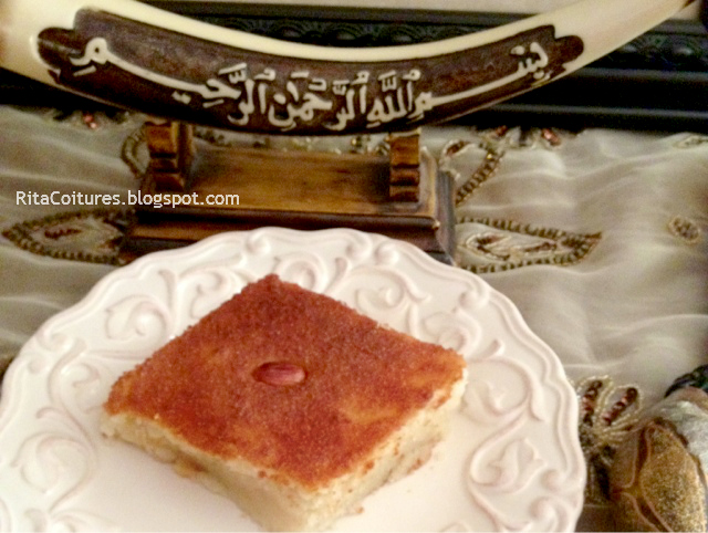 Rita Couture: How to make Hareesah Cake (هريسة)