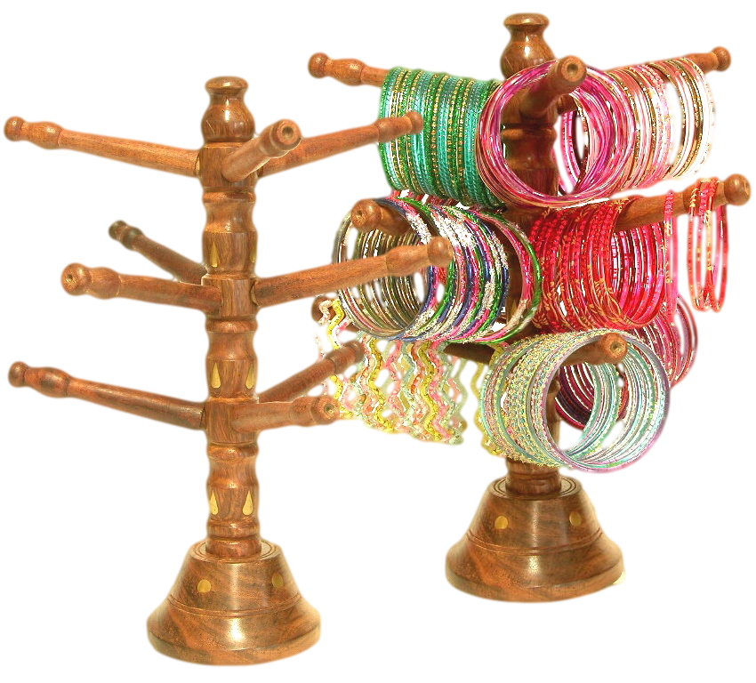 Cute wood bangle tree to show off your glass bangles.