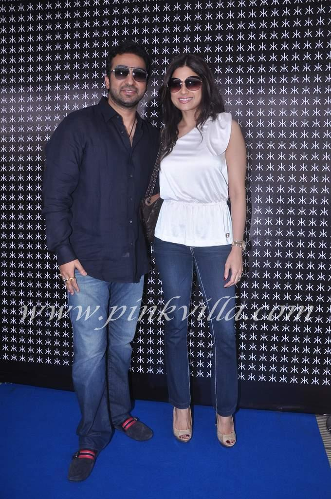 Shamita Shetty in white top with raj kundra at Hakkasan anniversary bash  - Shamita Shetty with brother in law Raj kundra @ hakkasan bday bash