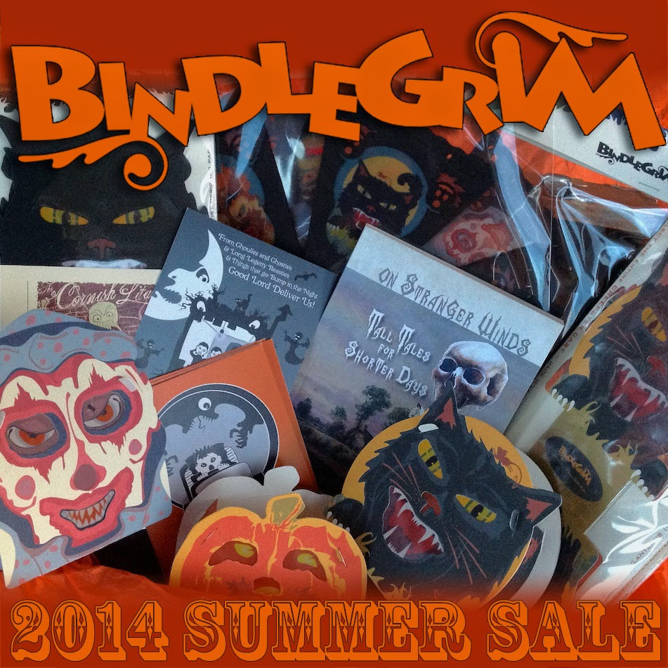 Spooky holiday creations - gift boxes, lanterns, books, postcards - by artist Bindlegrim 2014 summer sale