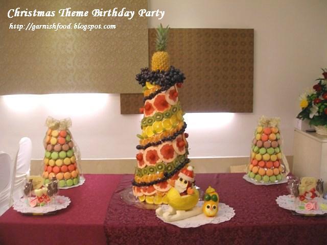 fruit christmas tower macaron tower fruit sculpure for kids
