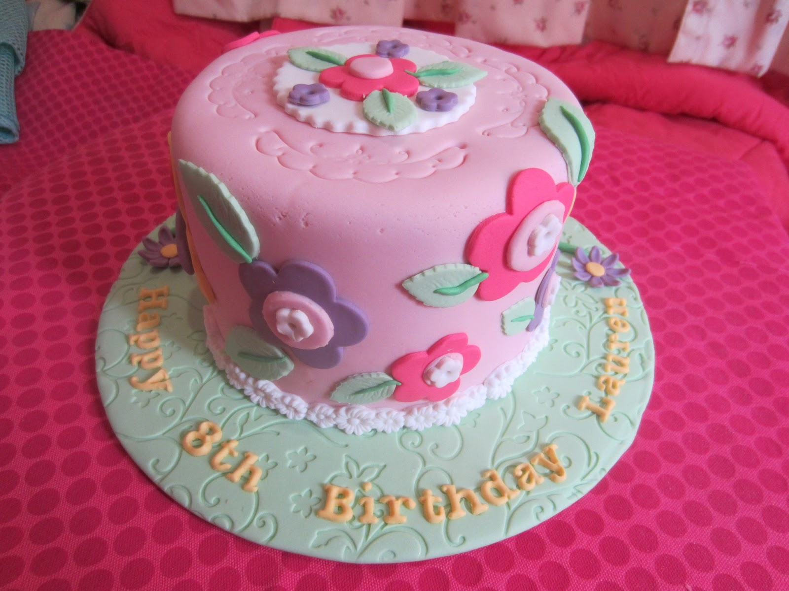 Home mayde cakes showcase simple butterfly and flower design on cake izmirmasajfo