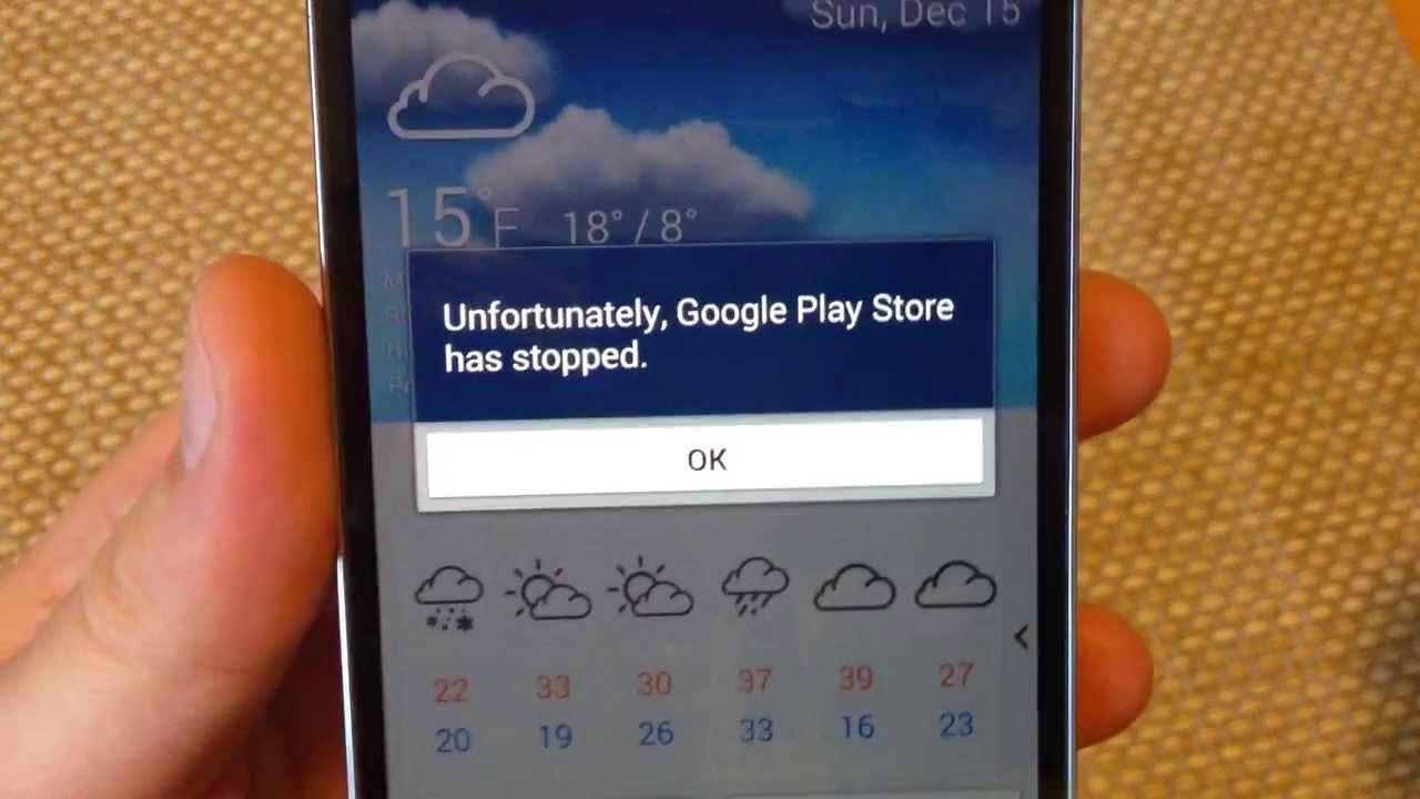 Como reparar o erro da Google Play no Android Lollipop