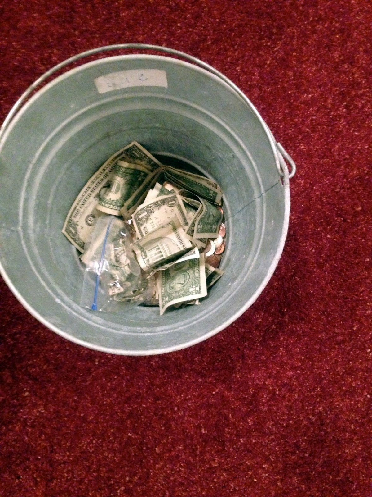 Dancing Commas :: Workshop of Wonders VBS :: Money bucket