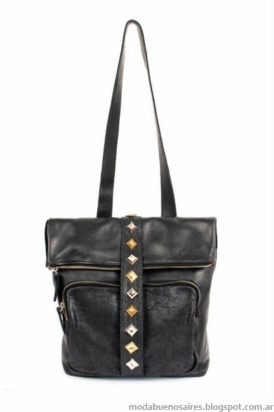 Calletanas primavera verano 2014. Carteras, mochilas y bolsos de cuero.